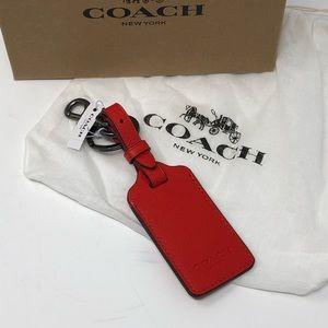 Coach Leather Luggage Tag